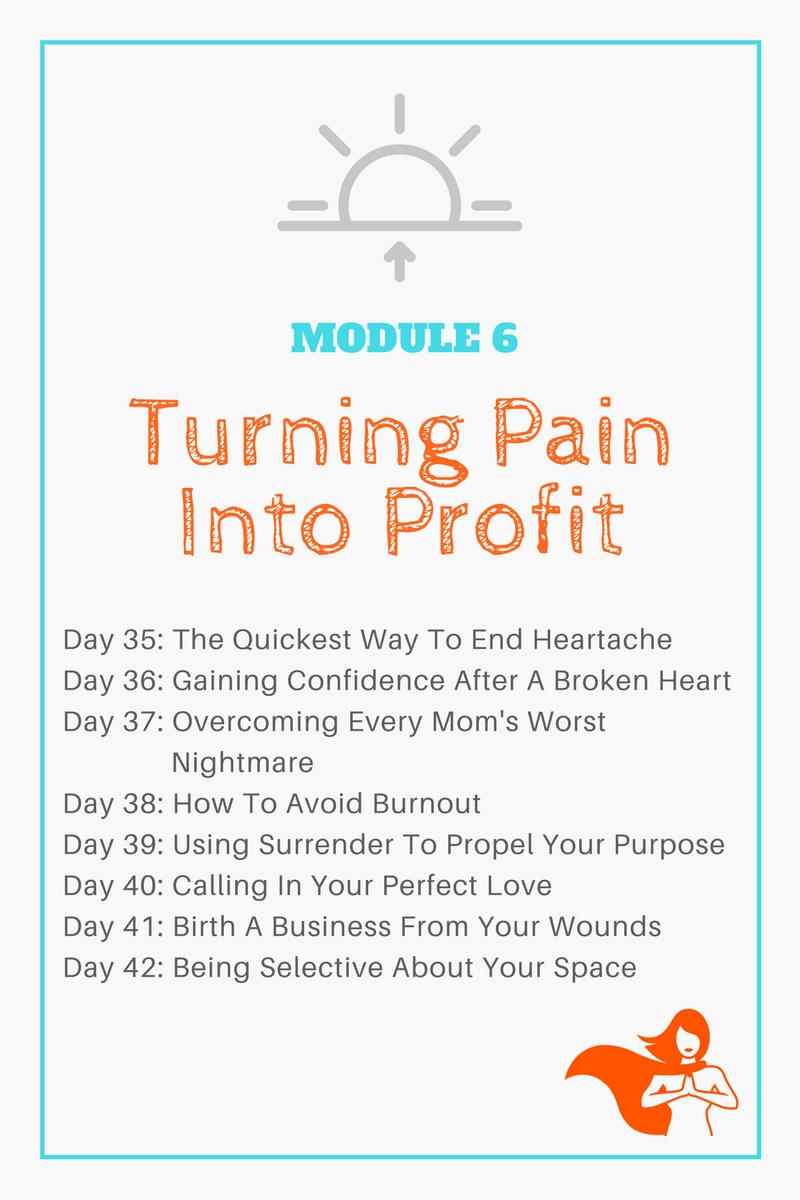 Module 6 - Turning Pain Into Profit